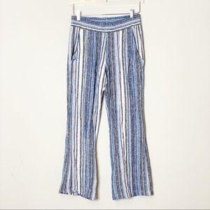 Drew Linen Blend Striped Pants in Sz M